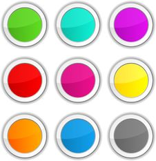 Glossy Buttons. Stock Photo