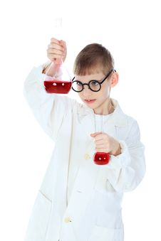 Laboratory Assistant Stock Image