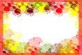 Free Frame With Varicolored Violas Royalty Free Stock Photos - 13742508