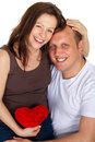 Free Young Couple In Love With Heart Royalty Free Stock Photos - 13749098