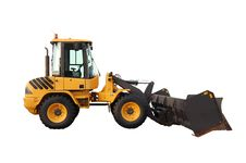 Free Skid Steer Loader With Snow Pusher Attachment Stock Image - 13740131