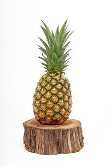 Free Pineapple On Tree Stump Stock Images - 13740974