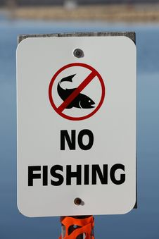 Free No Fishing Allowed Sign Royalty Free Stock Photos - 13741048