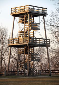Free Fire Watch Tower Royalty Free Stock Photos - 13741058