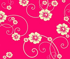 Free Red Flower Seamless Pattern Stock Photo - 13741420
