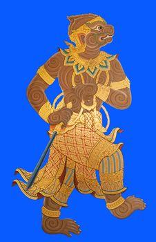 Thai Ramayana Stock Photos
