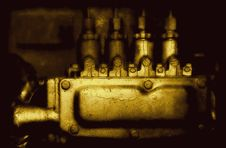 Vintage Engine System Royalty Free Stock Photography