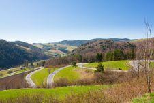 Free Zigzag Road Stock Image - 13742271
