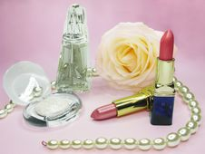 Free Cosmetic Set For Makeup Stock Images - 13742464