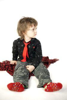 Little Boy Sitting Royalty Free Stock Image