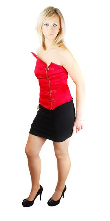Free Lady In Red Corset Stock Photo - 13744060