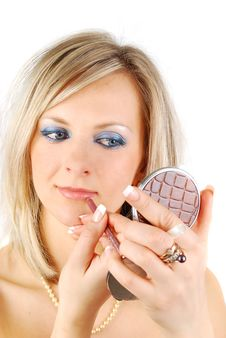 Free Blond Woman Make Up Stock Images - 13744084