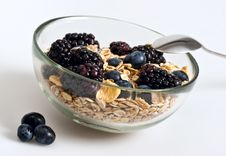 Free Muesli, Flakes And Berries Stock Photography - 13744292