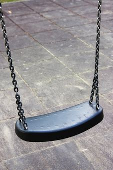 Free Empty Swing On The Playground, Isolated Stock Photography - 13744352