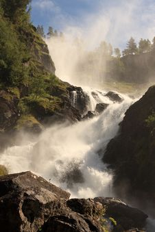 Norwegian Waterfalls Stock Images