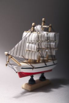 Wooden Sailboat Model Stock Images