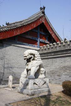 Free Stone Lion Stock Image - 13744881