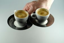 Free Two Espresso Cups Royalty Free Stock Photo - 13744935