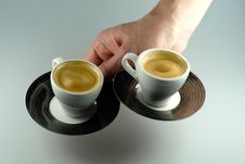 Free Two Espresso Cups Stock Photos - 13744973
