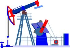 Free Oil Pump, Derrick Royalty Free Stock Photos - 13745358