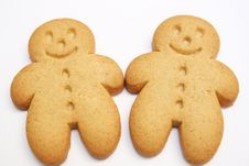 Free Two Gingrebread Cookies Royalty Free Stock Image - 13745846