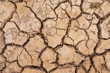 Free Broken Soil In Dry Season Royalty Free Stock Photo - 13746135