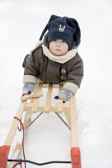 Free Sledding In Winter Stock Photo - 13746160