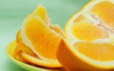 Cut Orange Royalty Free Stock Photography