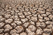 Free Broken Soil In Dry Season Stock Photo - 13746350