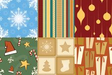 Free Christmas Seamless Pattern Stock Images - 13746534