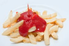 Free French Fries And Ketchup Stock Image - 13747001