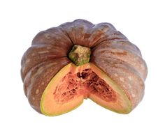 Free Cut Pumpkin Against A White Background Stock Photo - 13747060