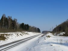 Free Landscape With A Railroad Stock Images - 13747104