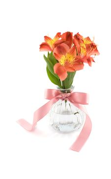 Free Flower In Glass Vase Royalty Free Stock Photos - 13747218