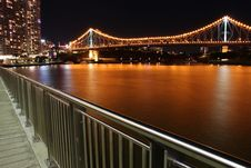 Free Story Bridge & Riverside Walkway Stock Image - 13747391
