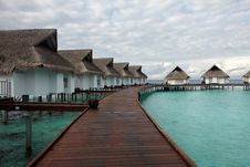 Free Water Villas Royalty Free Stock Photo - 13747395
