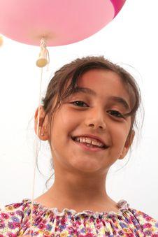 Free Little Girls And Balloon Stock Photos - 13747493