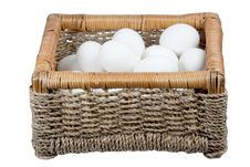 Free Basket With Eggs Stock Image - 13747981