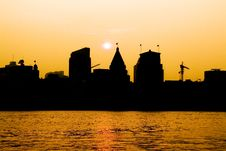 The Bund In Sunset Stock Photos