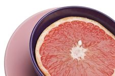 Vibrant Sliced Grapefruit Royalty Free Stock Photos