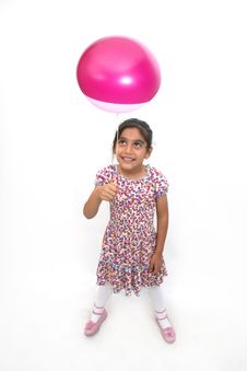 Free Little Girls And Balloon Royalty Free Stock Image - 13748286