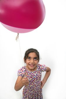 Free Little Girls And Balloon Royalty Free Stock Images - 13748369
