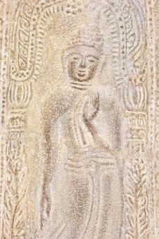 Free Fret Ancient Budha Royalty Free Stock Photography - 13748797