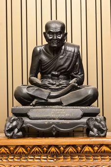 Thailand Famous Monk Statue Stock Images