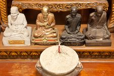 Free Four Famous Monks Statue Royalty Free Stock Image - 13748906