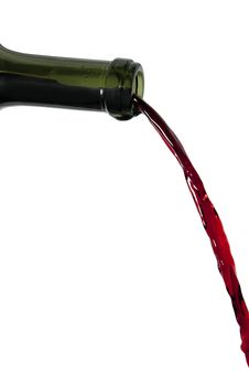 Free Red Wine Pouring Out Of Bottle Stock Photos - 13748913