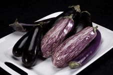 Free Eggplants On Dish Stock Photo - 13749770