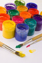 Free Jars With Gouache Stock Photography - 13754382