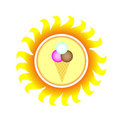 Free A Symbol Of Sun With Ice Cream Royalty Free Stock Photos - 13754568