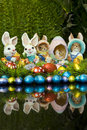 Free Easter Bunnies And Chocolate Easter Eggs Royalty Free Stock Image - 13754816